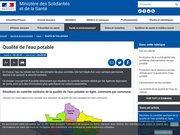 Qualité de l'eau potable - Ministère des Solidarités et de la Santé